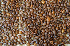 Coffee beans. In the bag Stock Photography