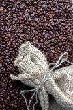 Coffee beans in a Bag stock image