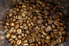 Coffee beans bag Stock Photography