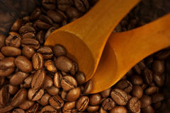 Coffee beans bag Stock Photos