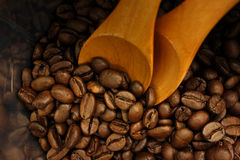 Coffee beans bag. Some coffee beans in the bag Royalty Free Stock Images