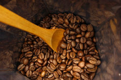 Coffee beans bag Royalty Free Stock Photo