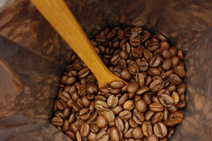 Coffee beans bag Stock Photo