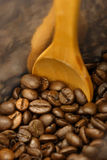 Coffee beans bag. Some coffee beans in the bag Royalty Free Stock Photography