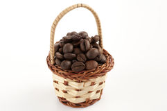 Coffee beans basket Stock Photography