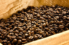 Coffee beans in a basket Stock Photography