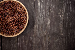 Coffee beans in basket Stock Photos