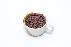 Coffee beans. Bean break, cofee espresso  natural Royalty Free Stock Photography