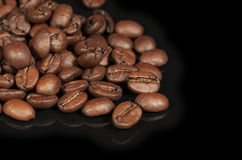 Coffee Beans Black Background Royalty Free Stock Images