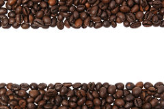 Coffee beans border Royalty Free Stock Photography
