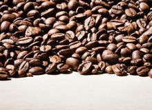 Coffee beans border Royalty Free Stock Images
