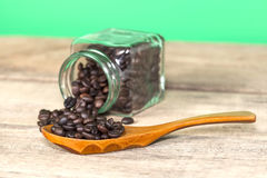 Coffee beans in a bottle Stock Photo