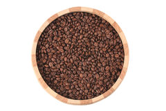 Coffee beans in bowl Royalty Free Stock Photo