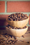 Coffee beans in bowl Royalty Free Stock Image