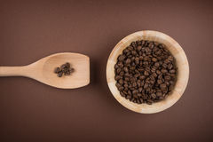 Coffee beans in bowl Royalty Free Stock Images