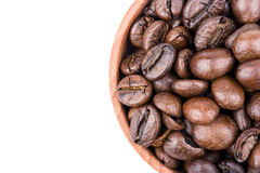 Coffee beans in a bowl Royalty Free Stock Photos