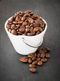 Coffee beans in bowl Royalty Free Stock Photography