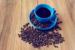 Coffee. Beans for breakfast cheerful royalty free stock photography