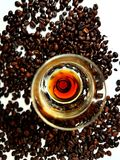 Coffee beans brown aroma liqueur Stock Photography