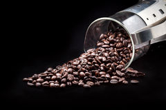 Coffee beans. Brown coffee beans on background Stock Photography