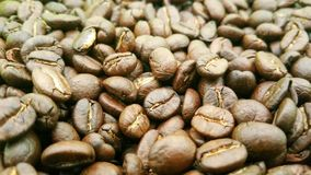 Coffee beans are roasted. Coffee beans brown and dark brown wallpaper from Chiang Mai, Thailand Stock Photography
