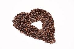 Coffee Beans. Brown coffee beans isolated on white background Stock Photography