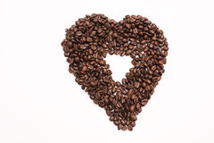 Coffee Beans. Brown coffee beans isolated on white background Royalty Free Stock Photography
