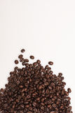 Coffee Beans. Brown coffee beans isolated on white background Royalty Free Stock Photos
