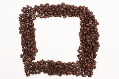 Coffee Beans. Brown coffee beans isolated on white background Royalty Free Stock Images