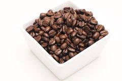 Coffee Beans. Brown coffee beans isolated on white background Stock Image