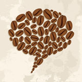 Coffee beans bubble chat concept Stock Photo