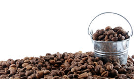 Coffee beans in the bucket. Stock Image