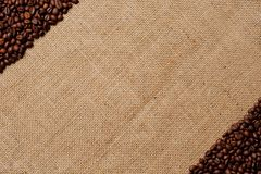 Coffee beans on burlap #3 Stock Photo