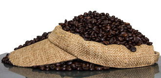 Coffee beans cap Royalty Free Stock Photography