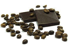 Coffee beans with chocolate Royalty Free Stock Photo