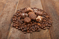 Coffee beans and chocolate Stock Photo