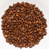 Coffee beans circle texture isolated Stock Photography