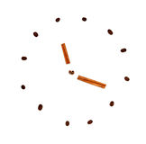 Coffee beans clock Royalty Free Stock Images