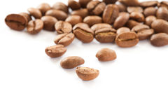 Coffee beans close up Stock Images
