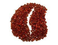 Coffee beans close up. Isolated Stock Image