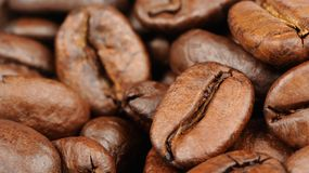 Coffee Beans Close-Up (16:9 Aspect Ratio) Stock Photos
