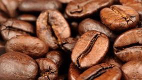 Coffee Beans Close-Up (16:9 Aspect Ratio) Royalty Free Stock Photo