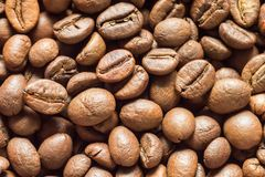 Coffee beans close up background texture Stock Photos