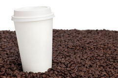 Coffee and Beans Royalty Free Stock Photography