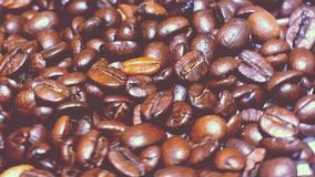 Coffee beans close up stock footage
