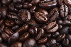 Coffee beans close-up. Freshly roasted brown coffee beans Stock Photo