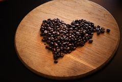 Coffee beans. Royalty Free Stock Images