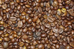 Coffee beans close up. Spicy Royalty Free Stock Images