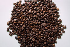 Coffee beans. Close-up on white background Stock Images