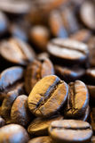 Coffee beans closeup. Ð¡offee beans close-up pictures and blurred background stock image